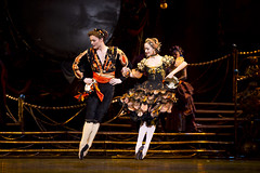 Liam Scarlett and Emma Maguire in the Neapolitan Dance in Swan Lake, Act III