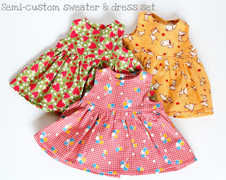 "Semi-Custom Sundress and Cardigan Set for 15"" Doll"
