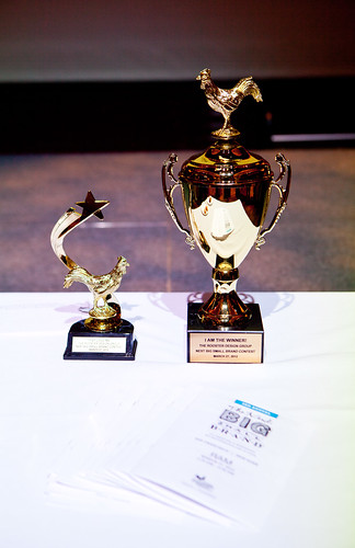 The trophies (People's Choice and Judges' pick)