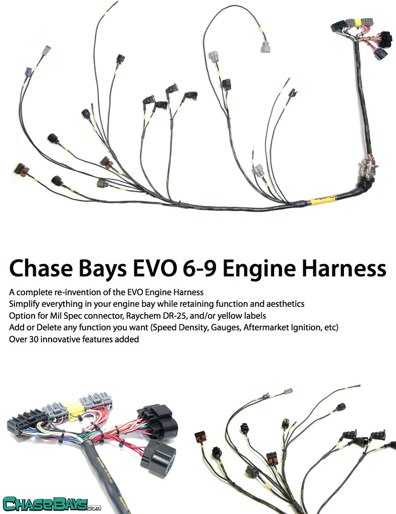 chase bays engine harness evolutionm. Black Bedroom Furniture Sets. Home Design Ideas