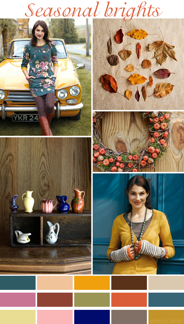 colour palette : seasonal brights, curated by Emma Lamb as part of Celebrate Color