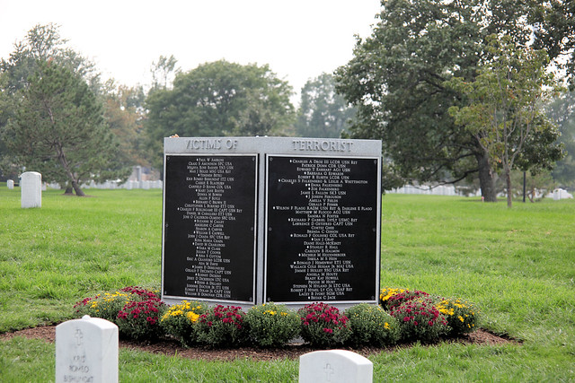 Arlington National Cemetery - 9-11 Memorial to Pentagon Victims - NE side - 2011