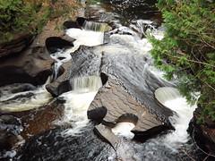 Presque Isle River Gorge just below Manido Falls from the bridge to Presque Isle