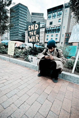 Texting to stop the war