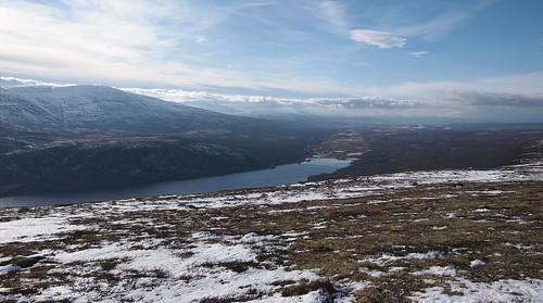 sky panorama lake snow mountains norway norge opplandfylke furuhaugli dovrekommune