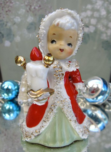 Altered Lefton Christmas Bell Angel by saturdayfinds