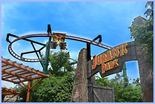 """Jurassic Park Ride in Universal Studios Singapore ..."