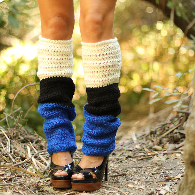 Color Block Leg Warmers By Mademoiselle Mermaid | Flickr - Photo Sharing!