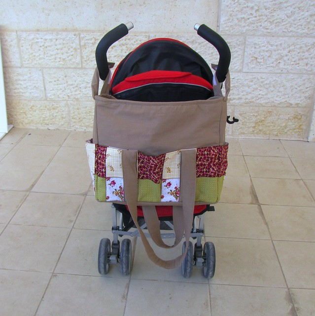 zippered diaper nappy bag with stroller straps flickr photo sharing. Black Bedroom Furniture Sets. Home Design Ideas