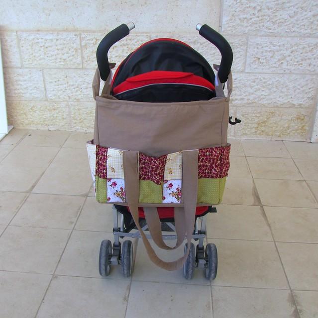 zippered diaper nappy bag with stroller straps flickr photo sharing. Black Bedroom Furniture Sets. Home Design Ideas