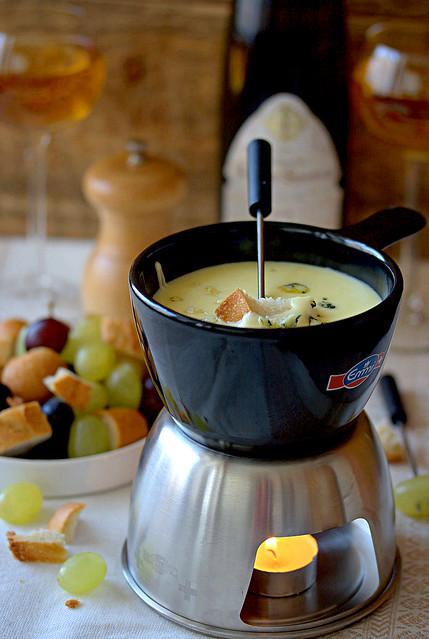 Fondue au Roquefort+Camembert