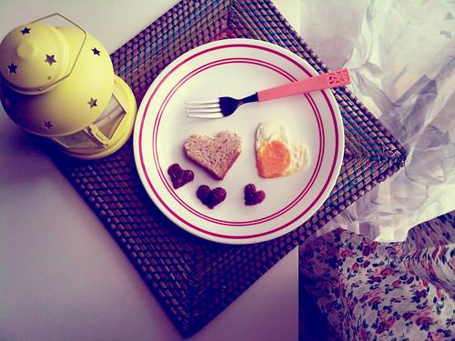 Breakfast is served, my love.