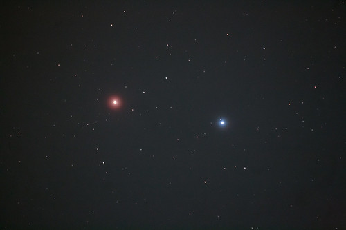 A Colourful Pair (Mars & Regulus)