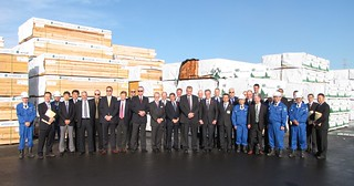 Sendai group shot  first shipment of Canadian wood products