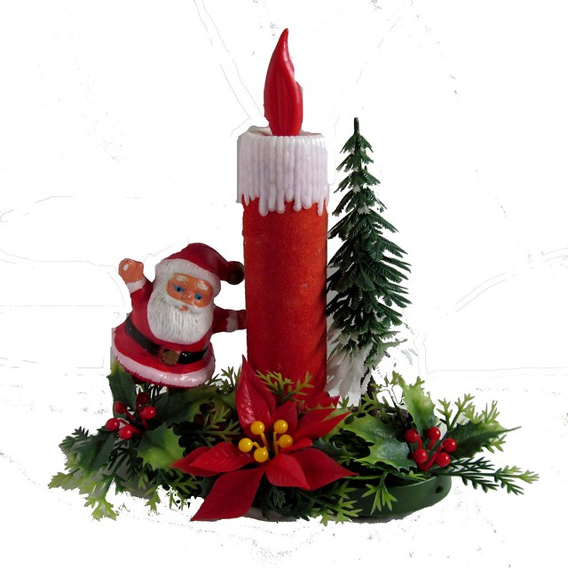 Left vintage kitsch christmas santa candle decoration flickr photo sharing - The world of candles candles decoration ...