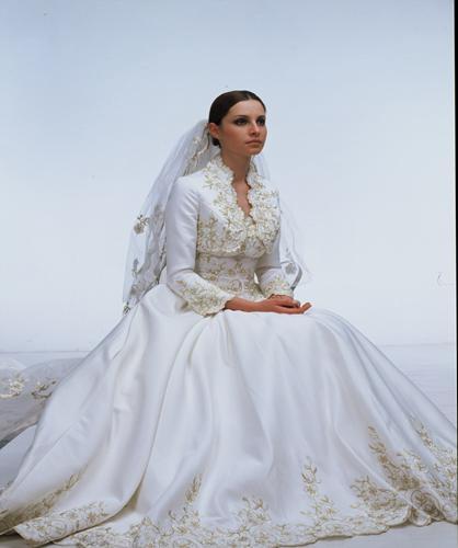 Wedding Gown Patterns Vogue 25 Superb satin wedding dress with