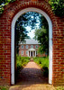 The Gate to Kenmore House, Fredericksburg, VA.