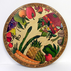 """Eat Your Veggies"" Lazy Susan at Smith Galleries"