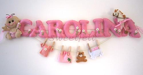 ♥♥♥ Carolina ... by sweetfelt \ ideias em feltro