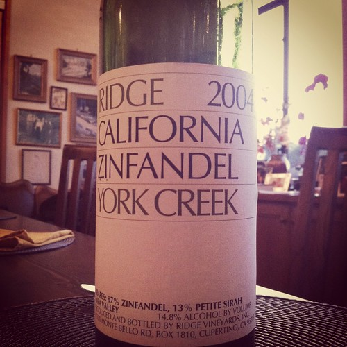 2004 Ridge Vineyards York Creek Zinfandel
