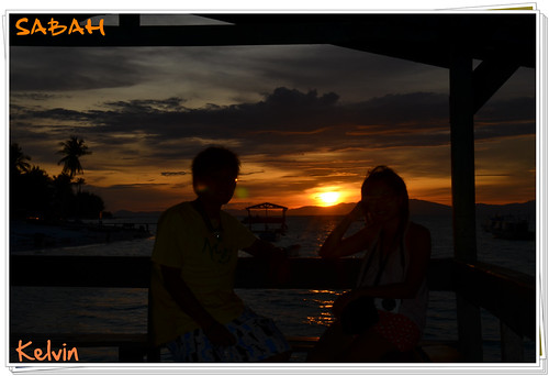 sabah 美人魚島 美人魚島的日出