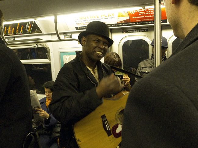 Subway singer, nyc