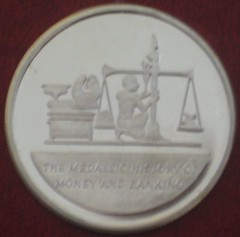 Schulman Medallic History of Money & Banking medal