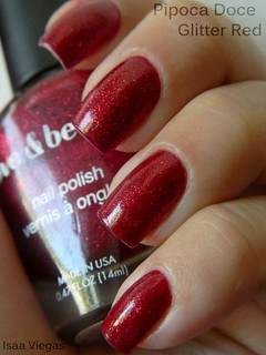 Pipoca Doce :: Risqué + Glitter Red :: Love & Beauty