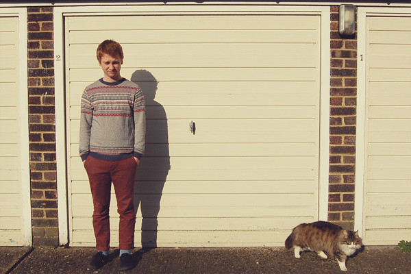 Wardrobe Block : Topman fairisle jumper, burgundy chinos, black pumps, menswear
