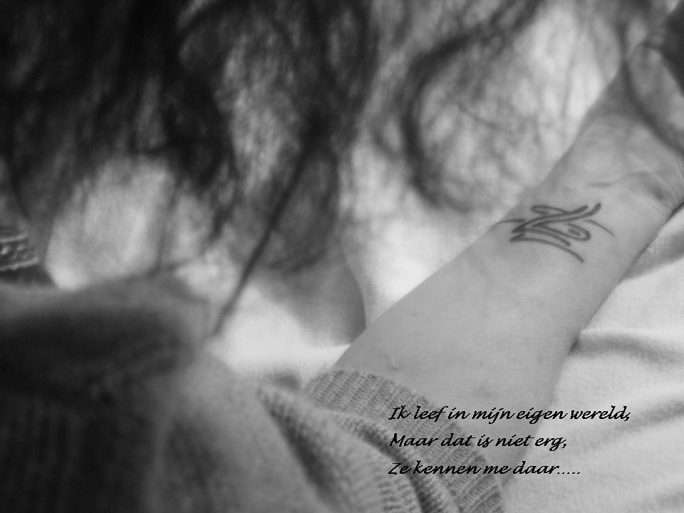 Tattoo Op Arm Met Tekst Liedu Flickr