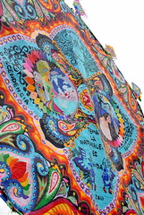 tapestry, art, psychedelic art, paisley,