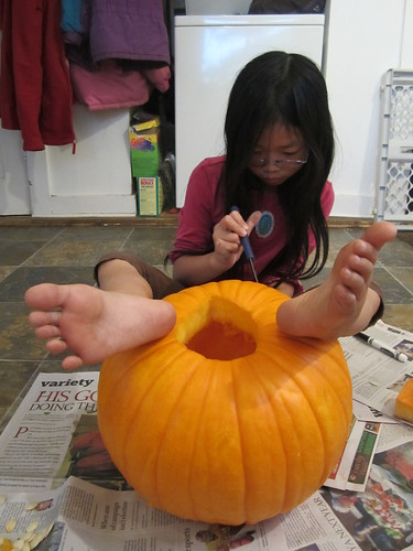 Holding the Pumpkin in Place