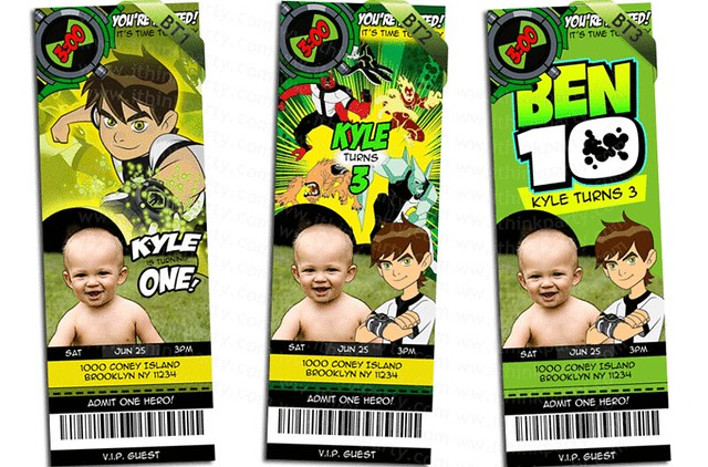 Ben 10 Invitations Printable Free
