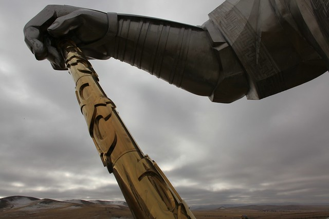 Estatua ecuestre de Gengis Kan. Mongolia