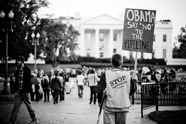 keystone xl protest in front of White House