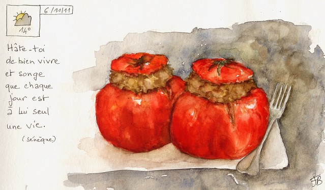 "SKETCHBOOK ""Tomates farcies"" ©"