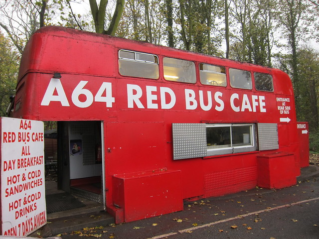Red Bus Café, A64, Yorkshire