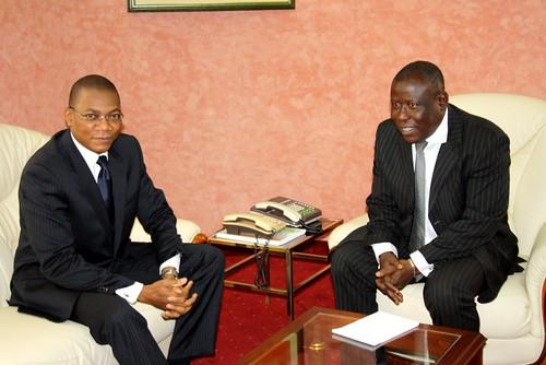 Visite de travail : le Ministre Koné Bruno chez le Ministre CISSE Ibrahima