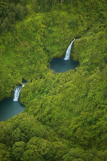 Maui waterfalls and pools aerial