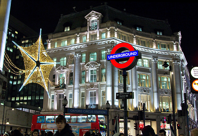 oxford circus  london  christmas 2011