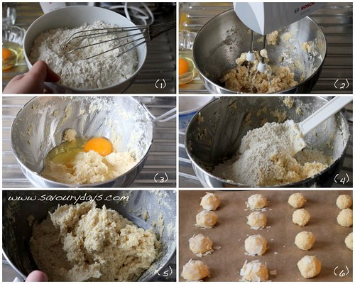 Almond coconut cookies - Method