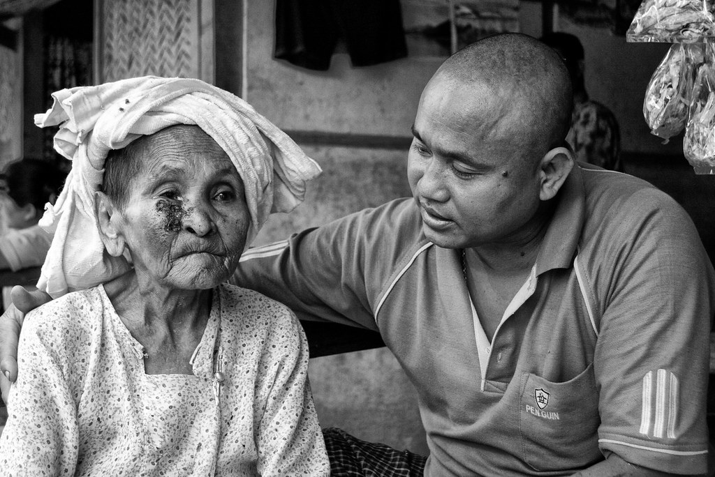 A Burmese Son's Affection For His Elderly Mother