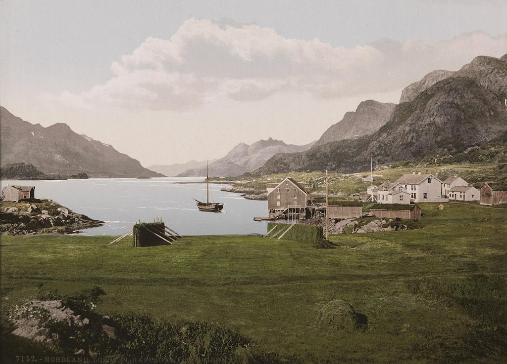 7152. Nordland. Lofoten. Raftsund fra Digermulen