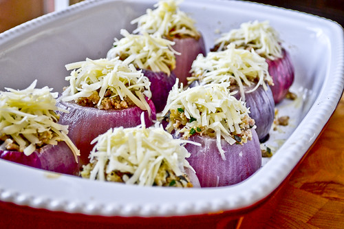 Sausage-Stuffed Red Onions 13