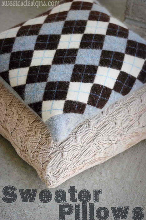 Recycled Sweater Pillows ⋆ Sweet C S Designs