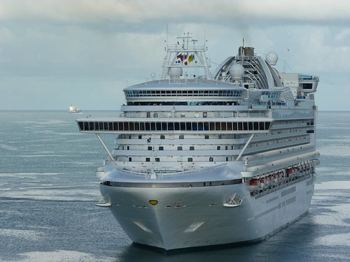 Emerald Princess at Antigua - 25 November 2011 by John Oram