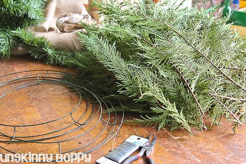 DIY Evergreen Christmas wreaths (1 of 16)