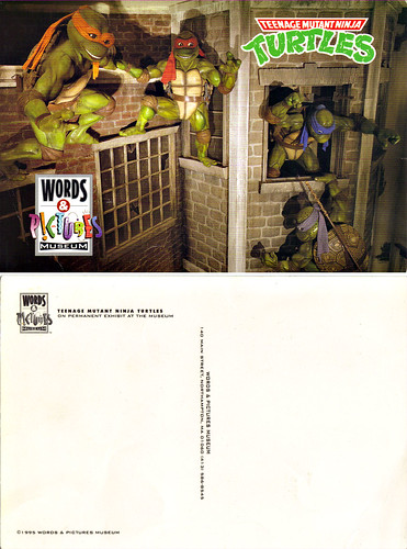 "WORDS & PICTURES MUSEUM: ""TMNT EXHIBIT"" ..postcard (( 1995 ))"
