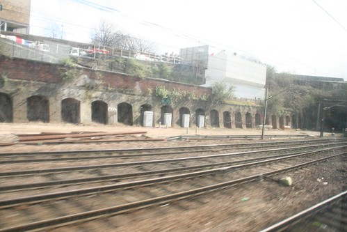 Blury photo of the former Cemetery Station