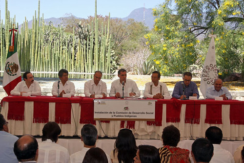 Gabino Cué, Instalación de la Comisión de Desarrollo Social y Pueblos Indígenas de la Conferencia Nacional de Gobernadores, Oaxaca